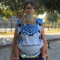 Toddler od 15 mjeseci, 13 kg koji nosi robicu broj 92.